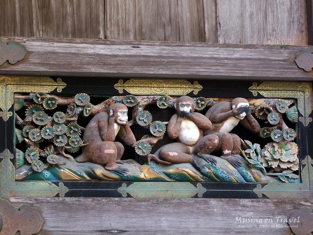 닛코산나이 도쇼구 산자루 원숭이
