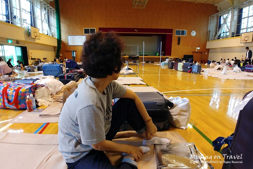 삿포로 오도리 고등학교 임시 대피소